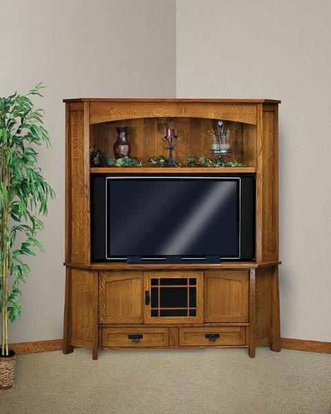 Amish Modesto Mission Corner Entertainment Center
