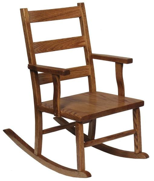 Oak Ladder Back Shaker Child's Rocking Chair