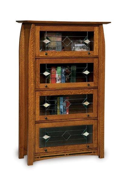 Amish Boulder Creek Barrister Bookcase with Four Doors