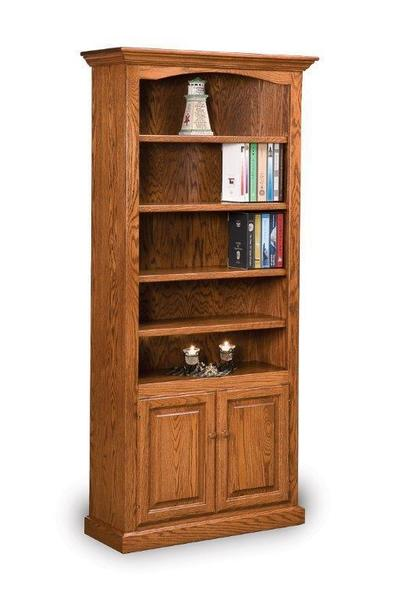 Amish Solid Wood Hoosier Heritage Bookcase