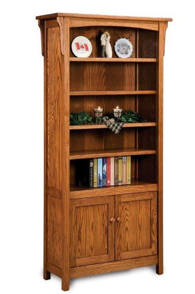 Amish Bridger Mission Bookcase Cabinet
