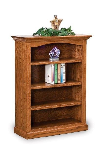 Amish Hoosier Heritage Bookcase with Three Shelves