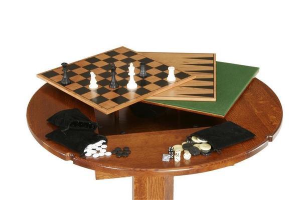 Amish Hardwood Pub Size Game Table