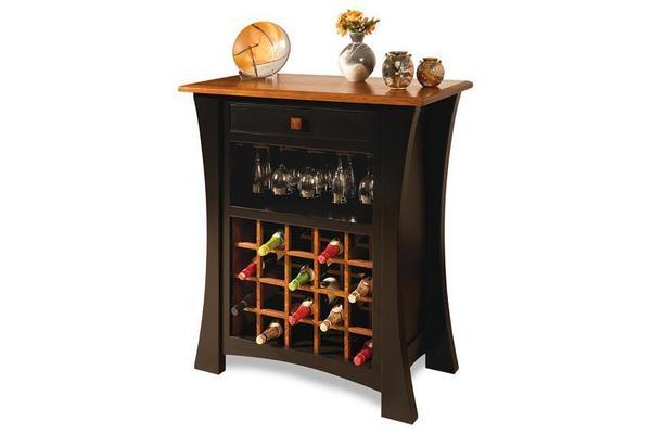 Amish Arts & Crafts Wine Cabinet
