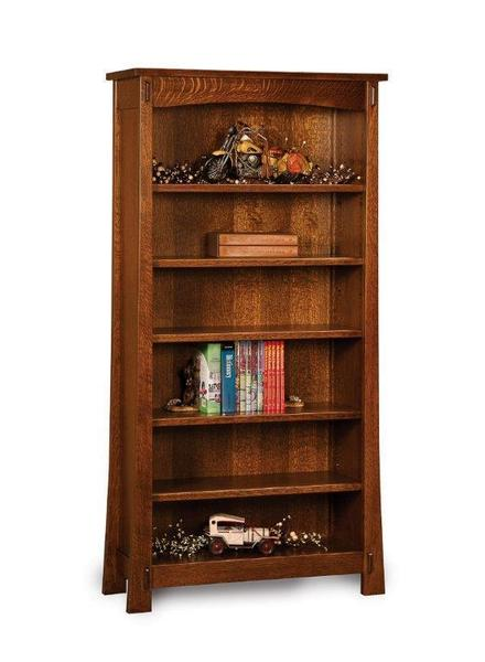 Amish Solid Wood Modesto Mission Bookcase