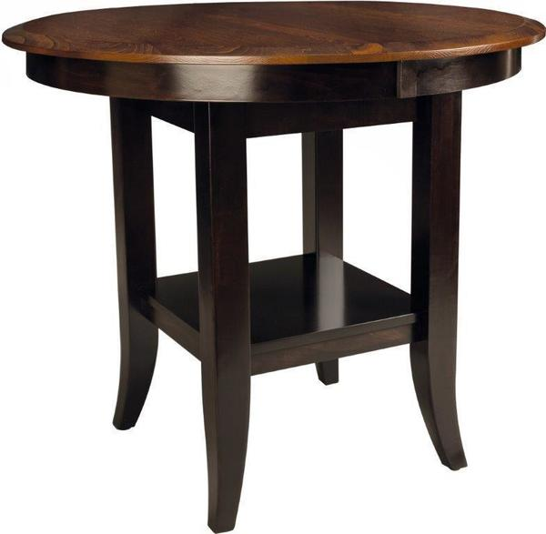 Amish Christy Round Dining Table with Solid Top