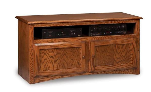 """Amish Durham Economy 50"""" TV Stand with Two Doors and VCR Opening"""