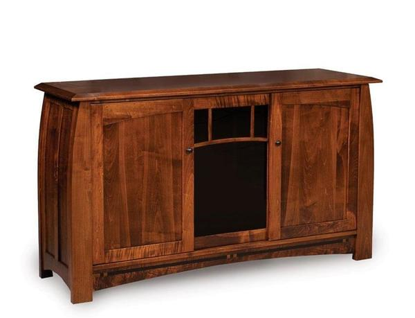 "Amish Boulder Creek 63"" TV Stand with Three Doors"