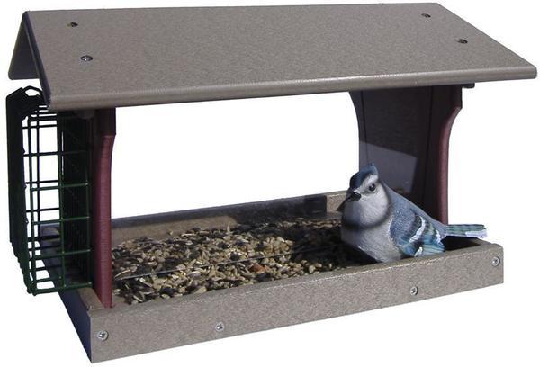 Recycled Poly Hopper Single Suet Bird Feeder
