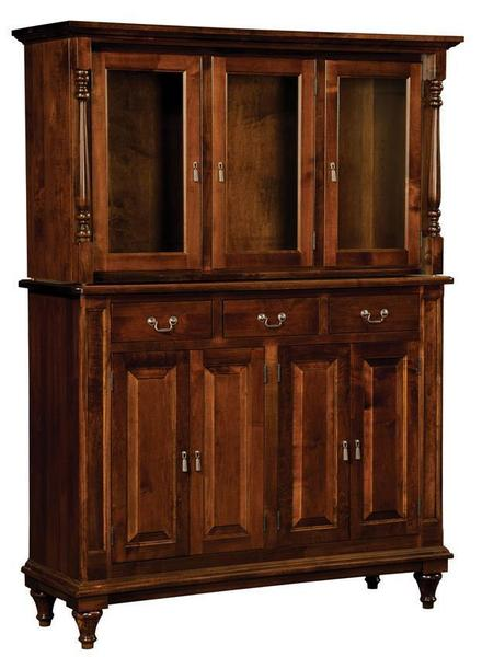 Amish Solid Wood Harbor Hutch