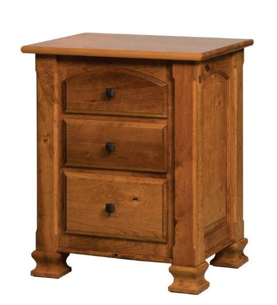 Amish Trenton Nightstand with Three Drawers