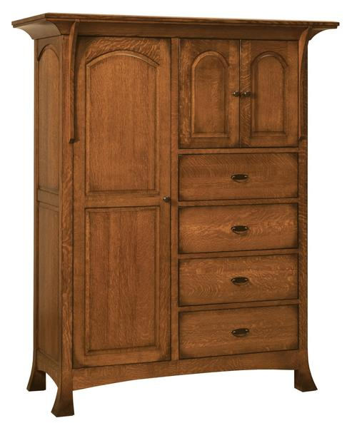 Amish Verona Chifforobe with Four Drawers and Three Doors