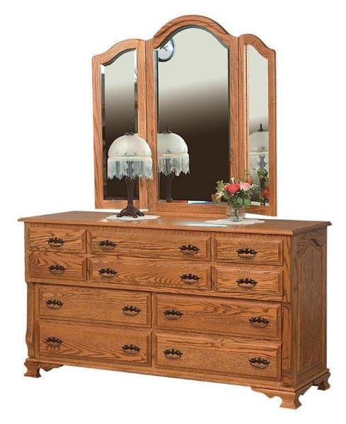 Amish Classic Heritage Ten Drawer Dresser