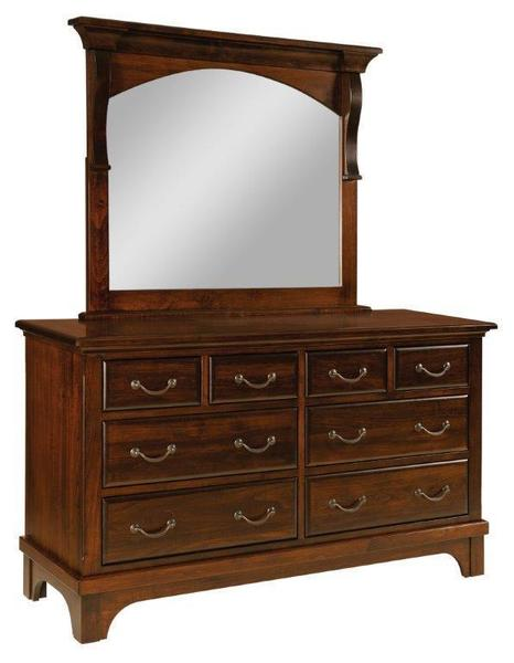 Amish Hamilton Court Dresser with Eight Drawers