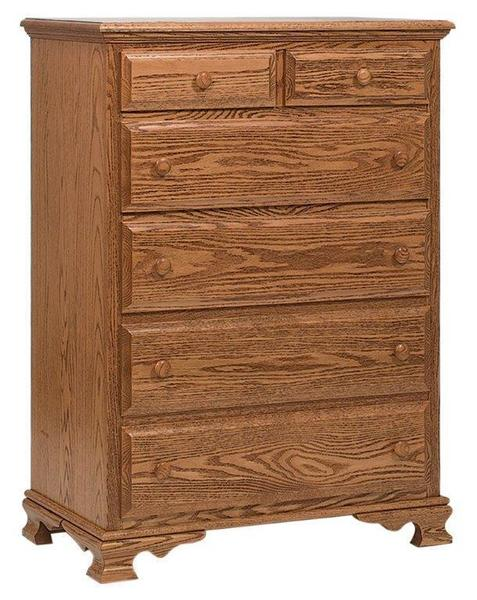 Amish Paxton Small Chest of Drawers with Six Drawers