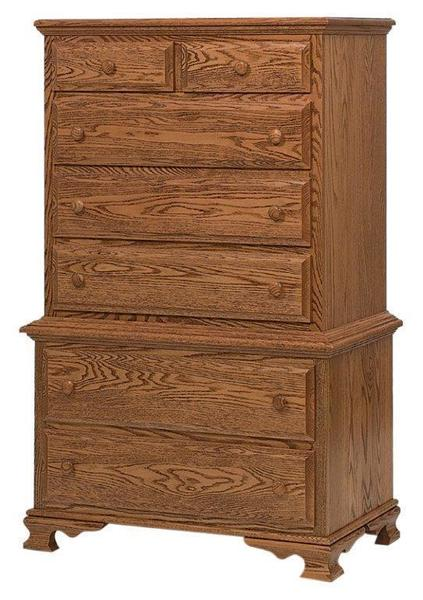 Amish Paxton Chest on Chest with Seven Drawers