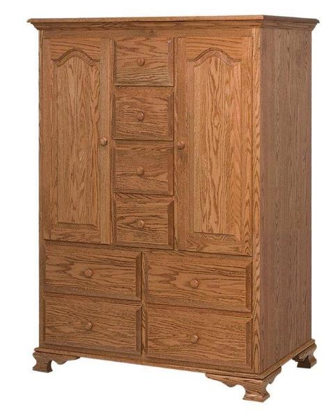 Amish Heritage Door Chest with Eight Drawers and Two Doors