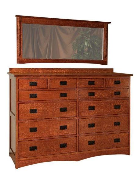 Amish Laramie Dresser with Twelve Drawers