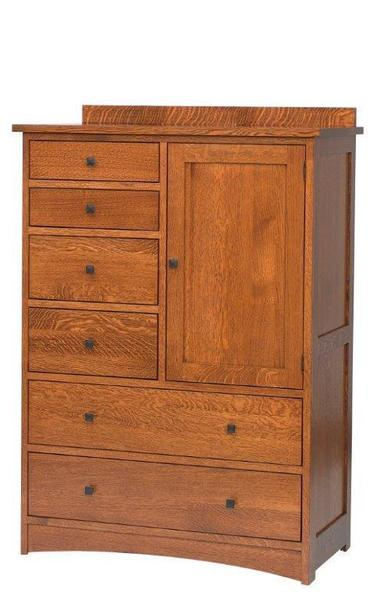 Amish Laramie Door Chest with Six Drawers