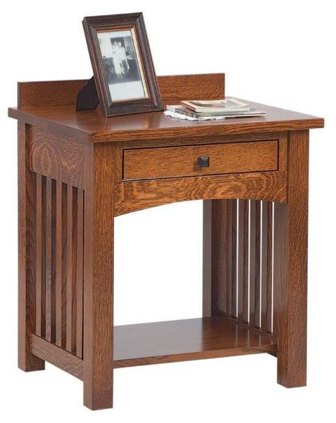 Amish Jacobson Nightstand with Open Slat