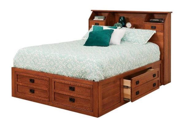 Amish Laramie Storage Bed