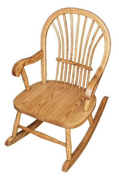 Amish Hardwood Child's Sheaf Back Rocker