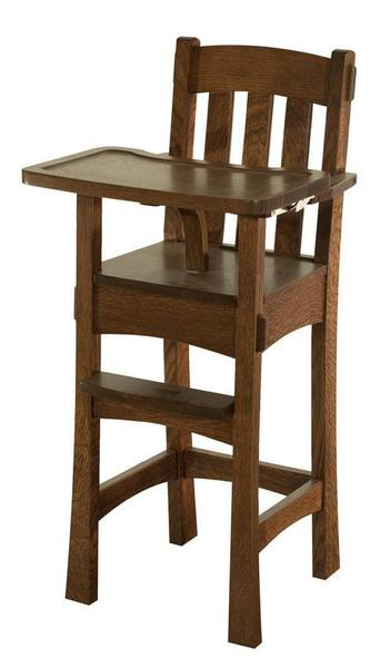 Modesto Wooden High Chair From Dutchcrafters Amish Furniture
