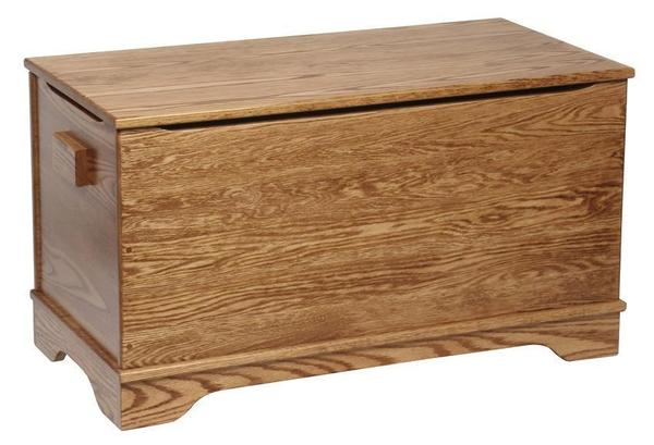 Amish Hardwood Large Plain Toy Chest