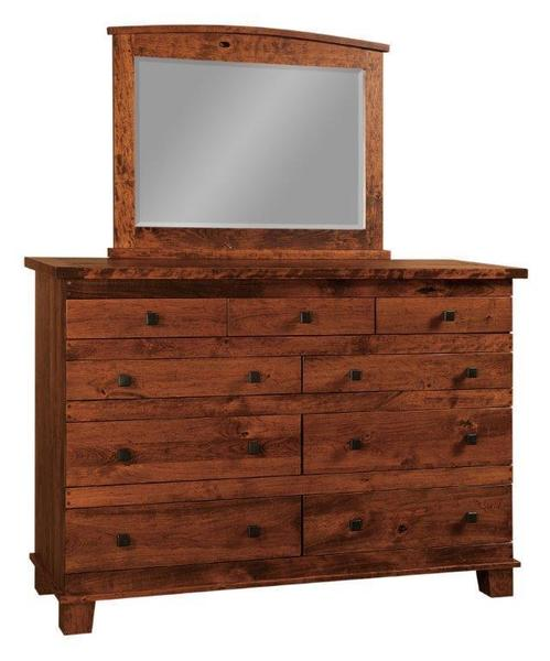 Amish Juno Dresser with Nine Drawers