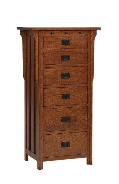 Amish Royal Mission Six Drawer Lingerie Chest