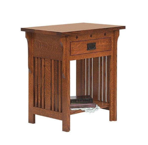 Amish Royal Mission One Drawer Nightstand