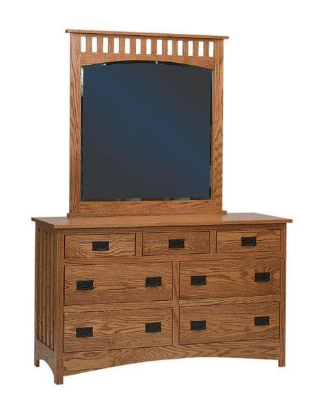 Amish Schwartz Mission Dresser with Seven Drawers
