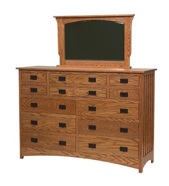 Amish Schwartz Mission Twelve Drawer Dresser