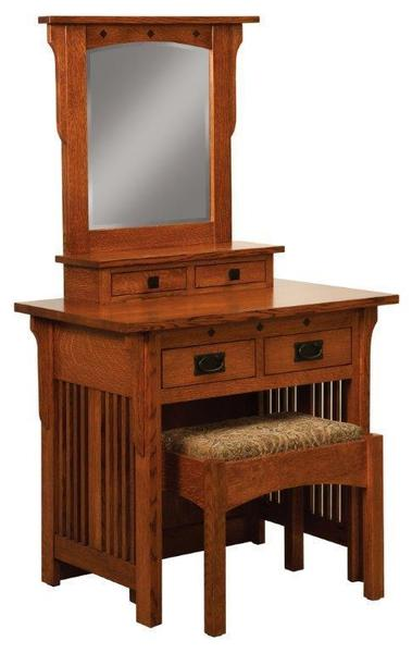 Amish Royal Mission Dressing Table and Bench