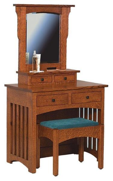 Amish Schwartz Mission Dressing Table and Bench