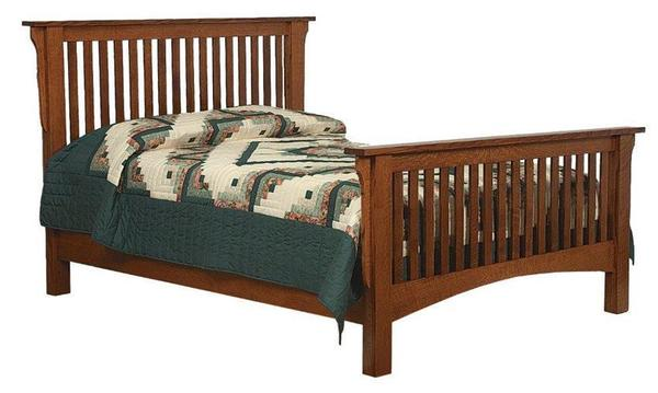Amish Traditional Mission Bed