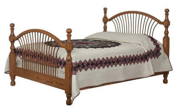 Amish Bow Sheaf Bed