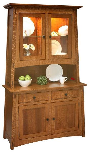 Amish McCoy Hutch with Two Doors