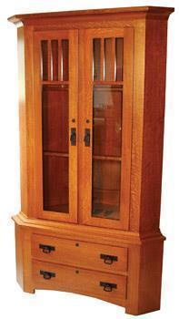 Amish Sportsman Corner Gun Cabinet From Dutchcrafters