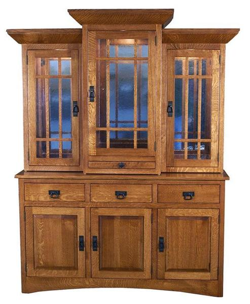 Amish Mission Supreme Hutch with Three Doors