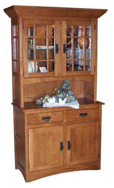 Amish Mission Supreme Hutch with Two Doors