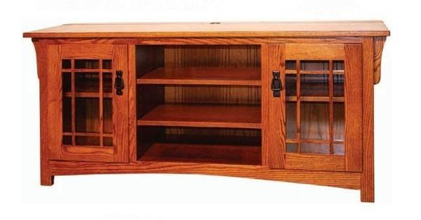 Amish Open Center Modesto Widescreen TV Console