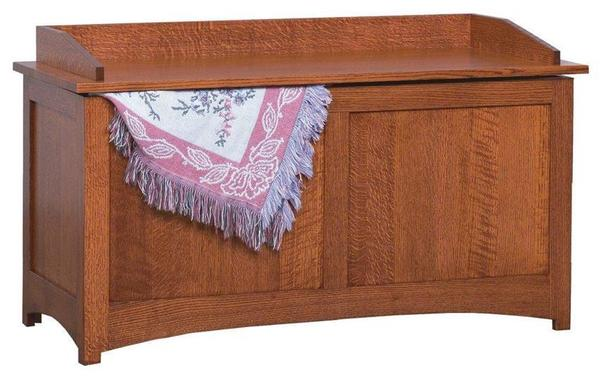 Amish Schwartz Mission Blanket Chest with Reversed Panel Sides