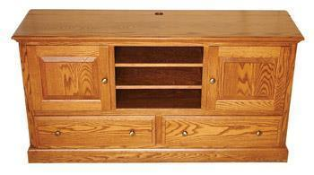 Amish Two Drawer Mission Widescreen TV Console