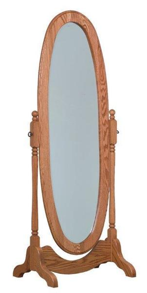 Amish Oval Cheval Floor Mirror