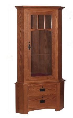Amish Springfield 9-Gun Corner Cabinet