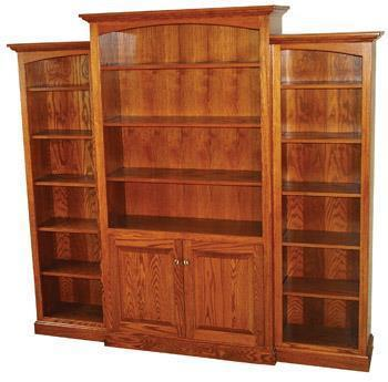 Amish 3-Unit Deluxe Traditional Bookcase