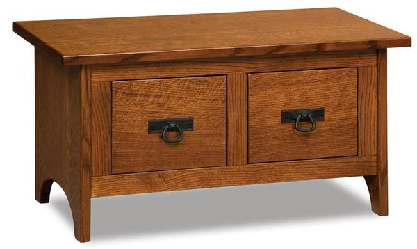 Hardwood Locker Room Bench with Drawers