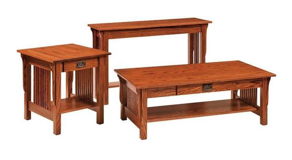 Amish Leah Mission Sofa Table