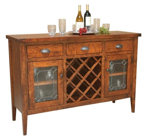 Amish Jacoby Wine Cabinet Server